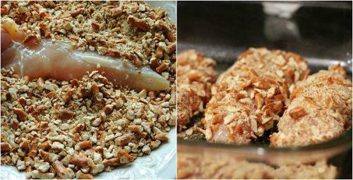 Секрет в необычной панировке с добавлением грецких орехов