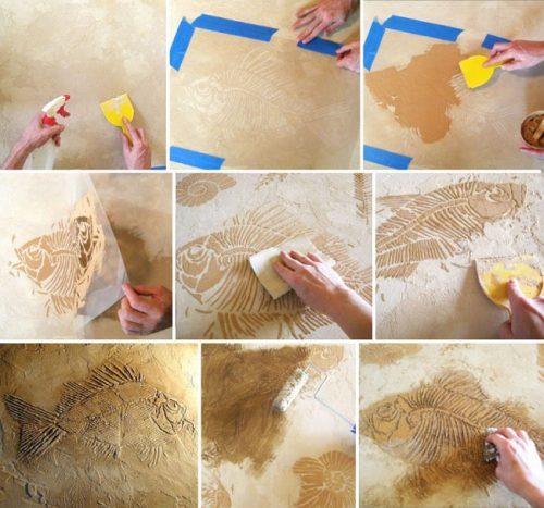 Как своими руками сделать декор стен 70