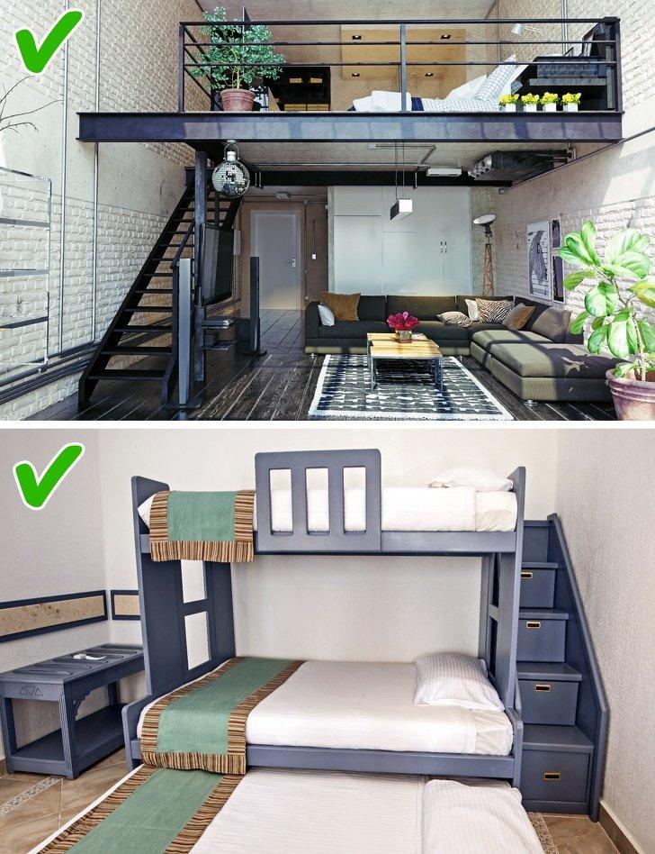 ошибки в дизайне маленьких комнат фото 7