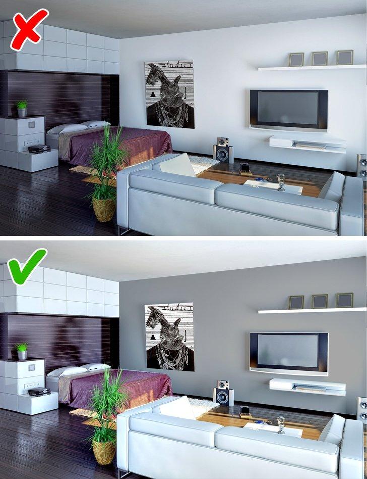 ошибки в дизайне маленьких комнат фото 5