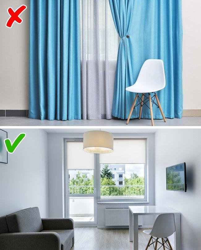 ошибки в дизайне маленьких комнат фото 2