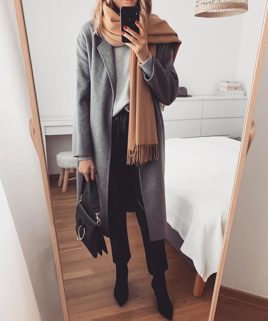 с чем носить пальто зимой фото 9