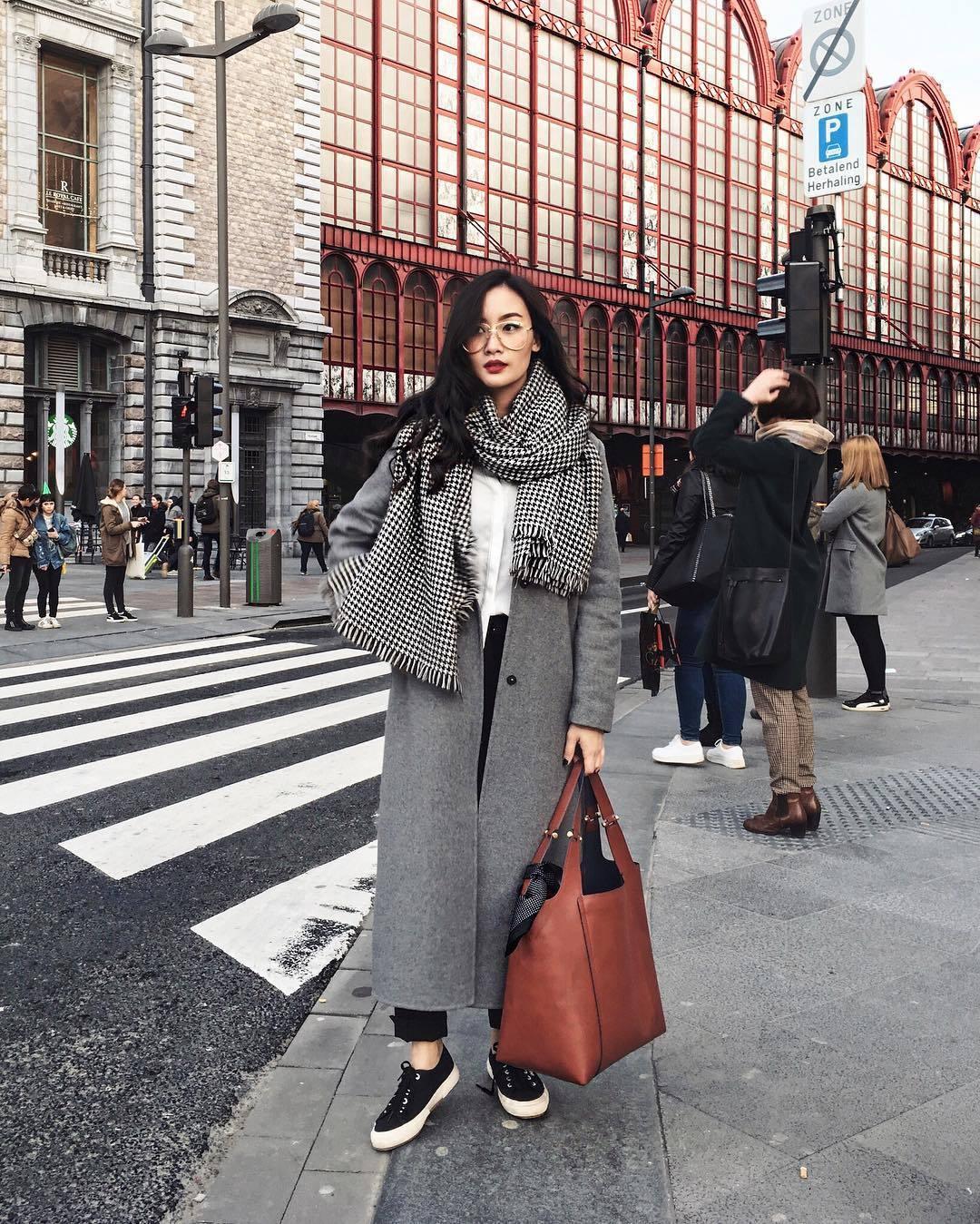 шарф с пальто фото 12