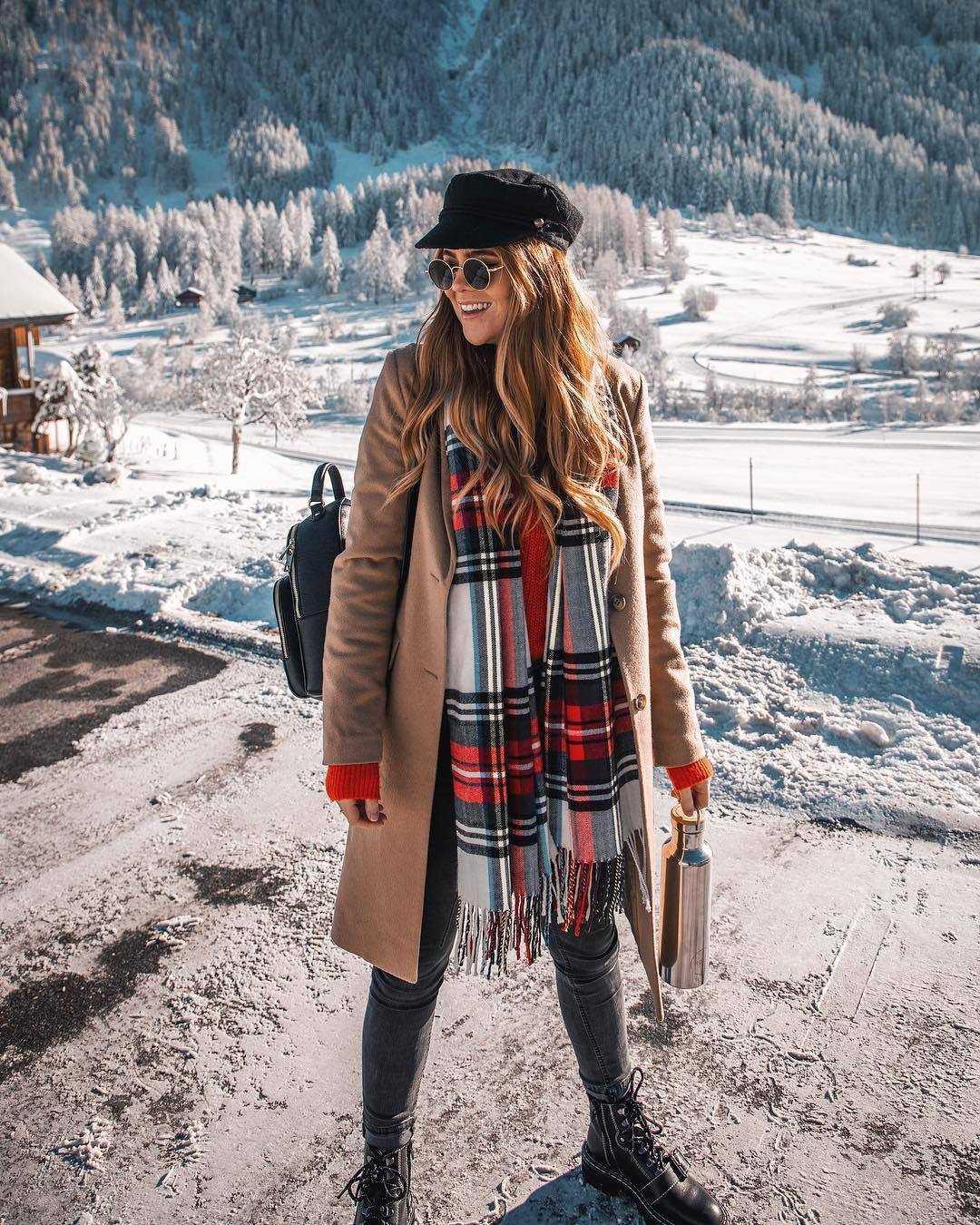 шарф с пальто фото 10