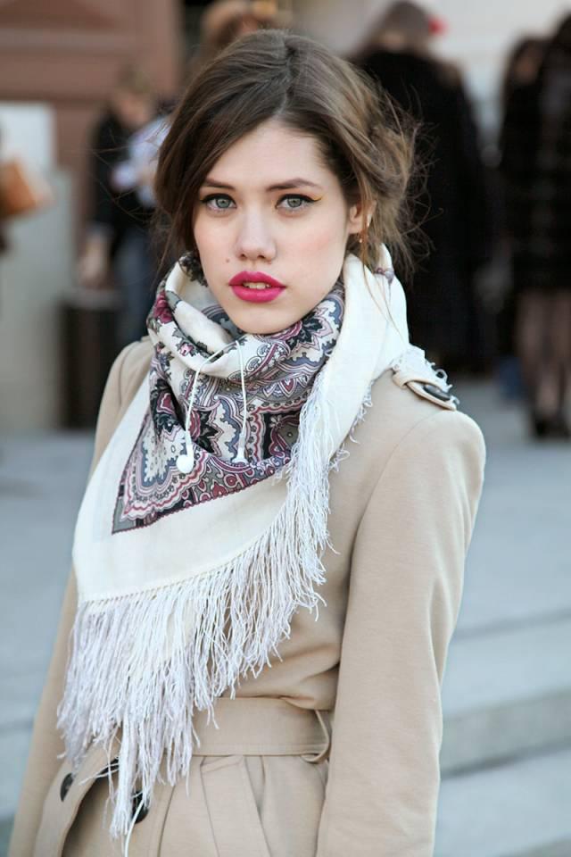 шарф с пальто фото 11