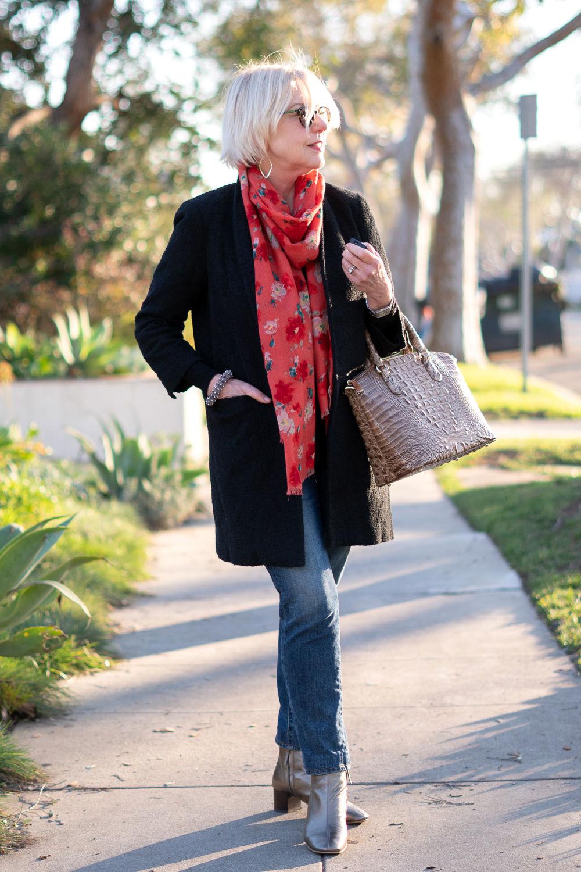 шарф с пальто фото 4