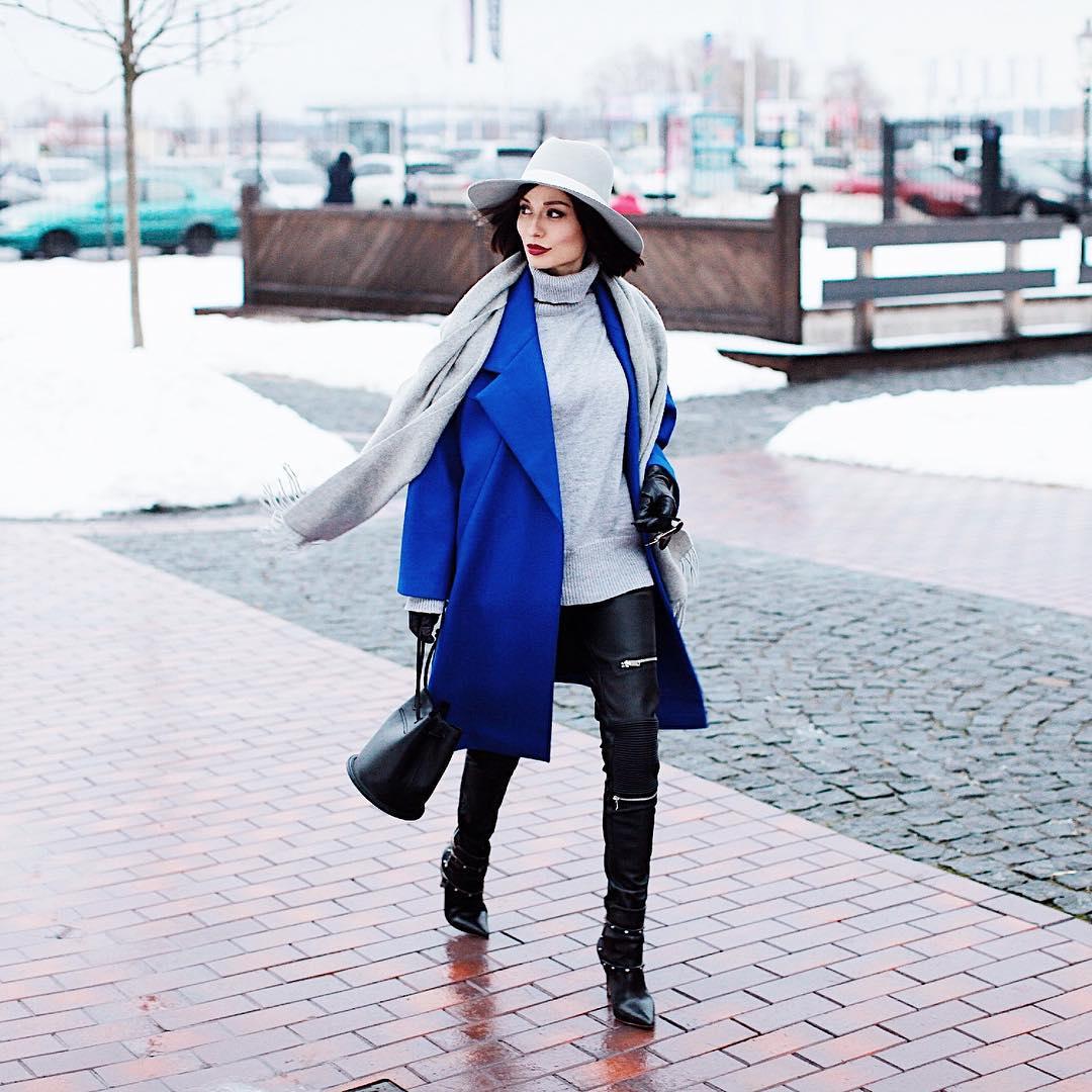 шарф с пальто фото 2