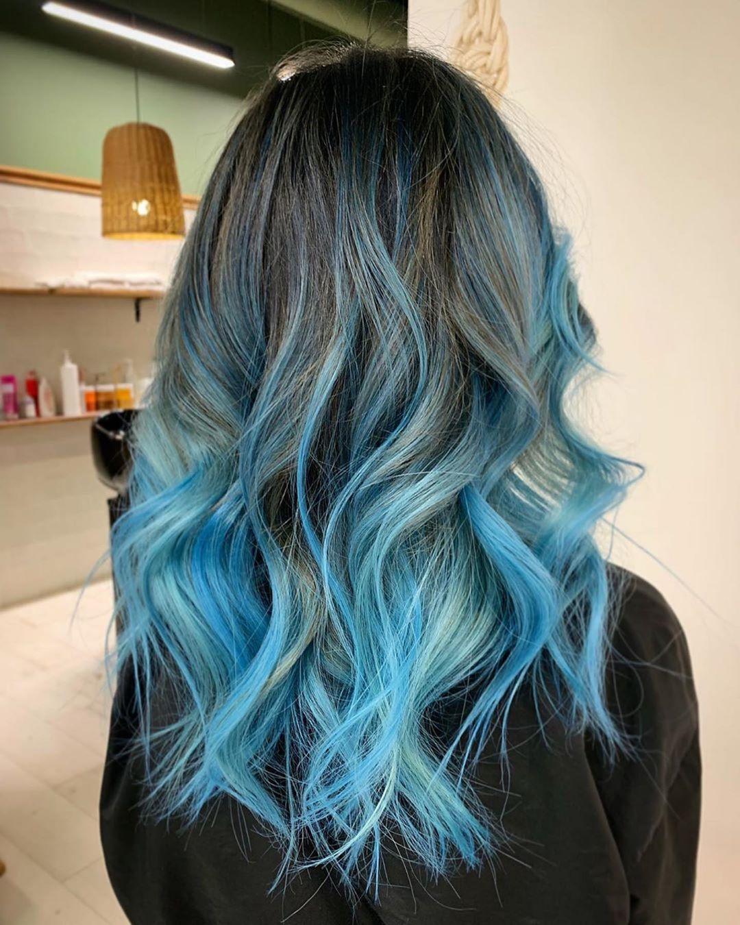 Растяжка цвета на волосах фото 17