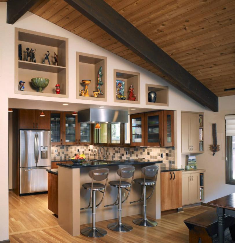 использование ниши на кухне фото 15