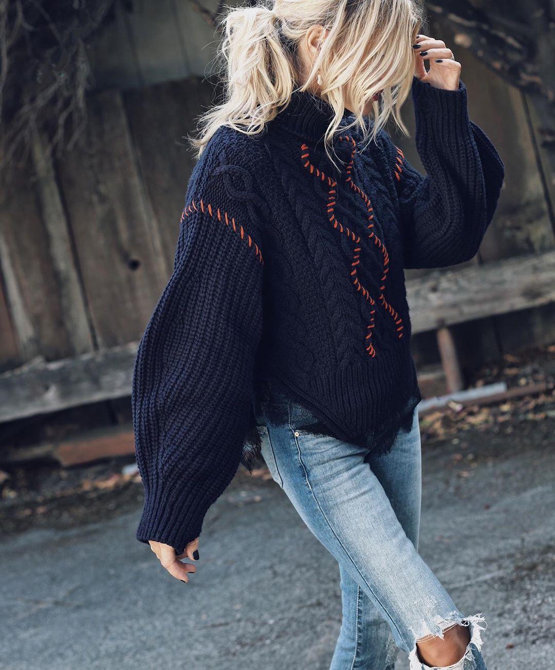 черный свитер фото 14
