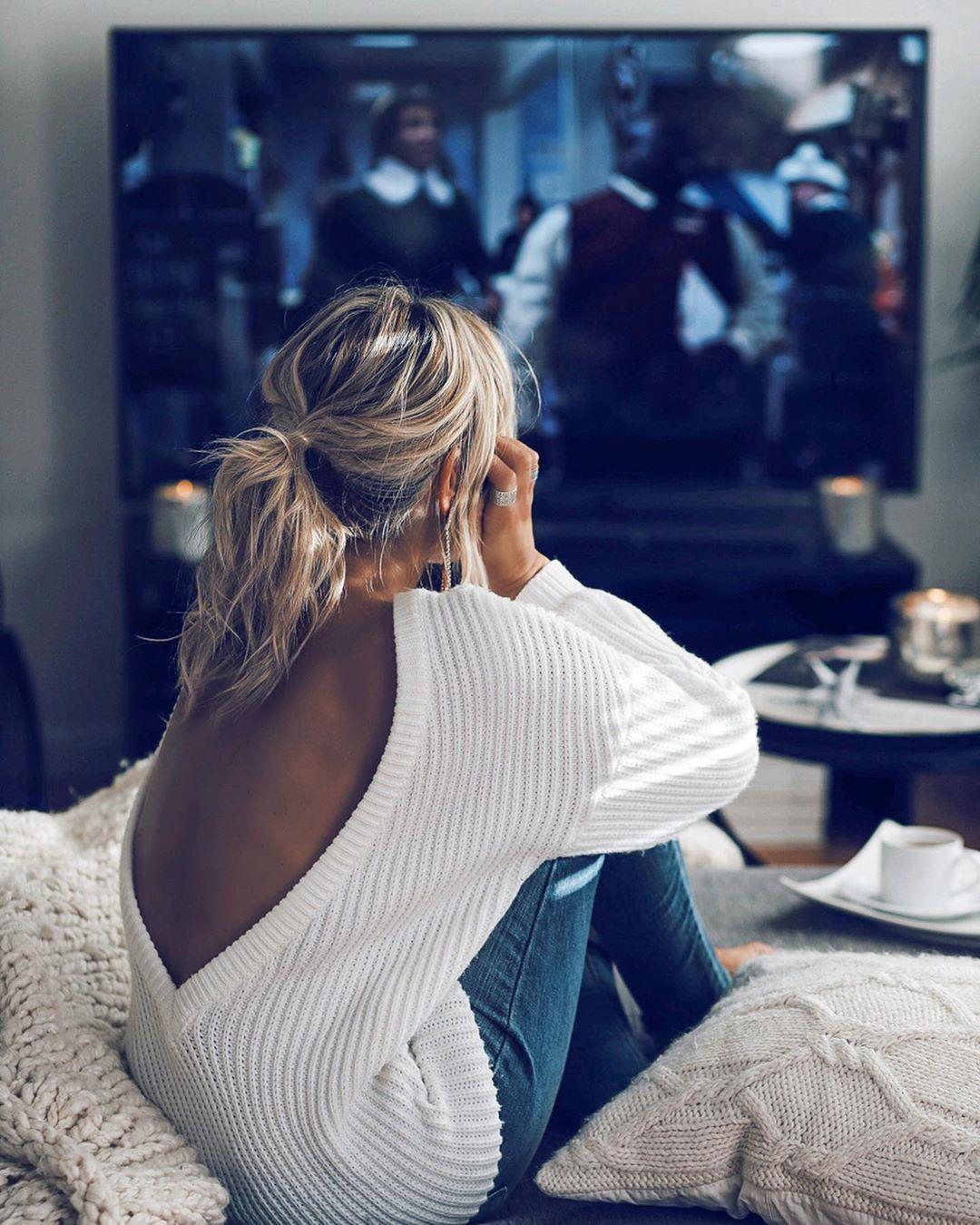 Белый свитер фото 18