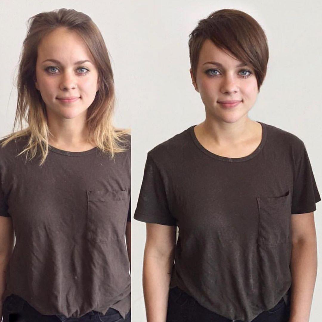До и после челки: фото 13