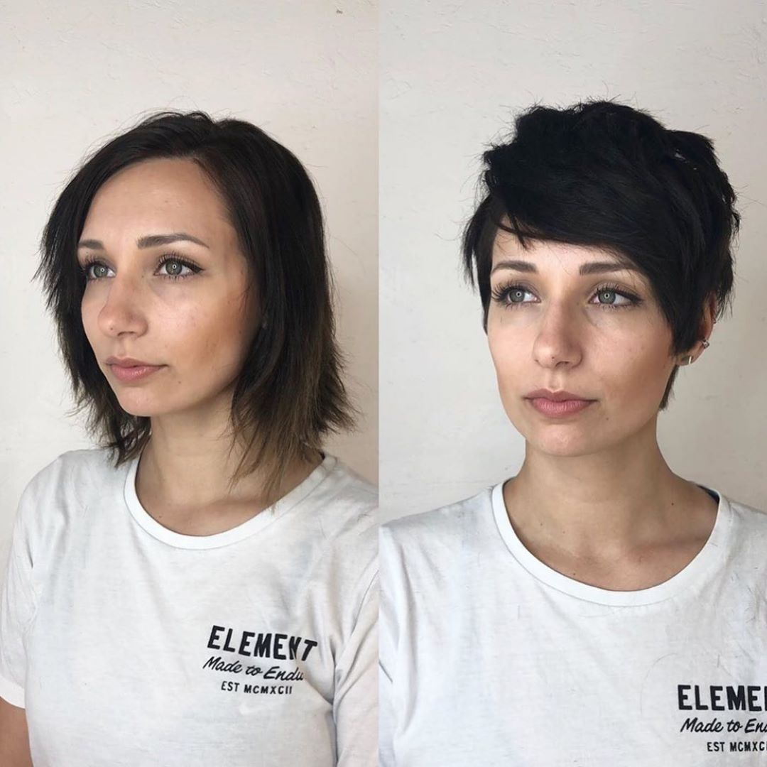 До и после челки: фото 19