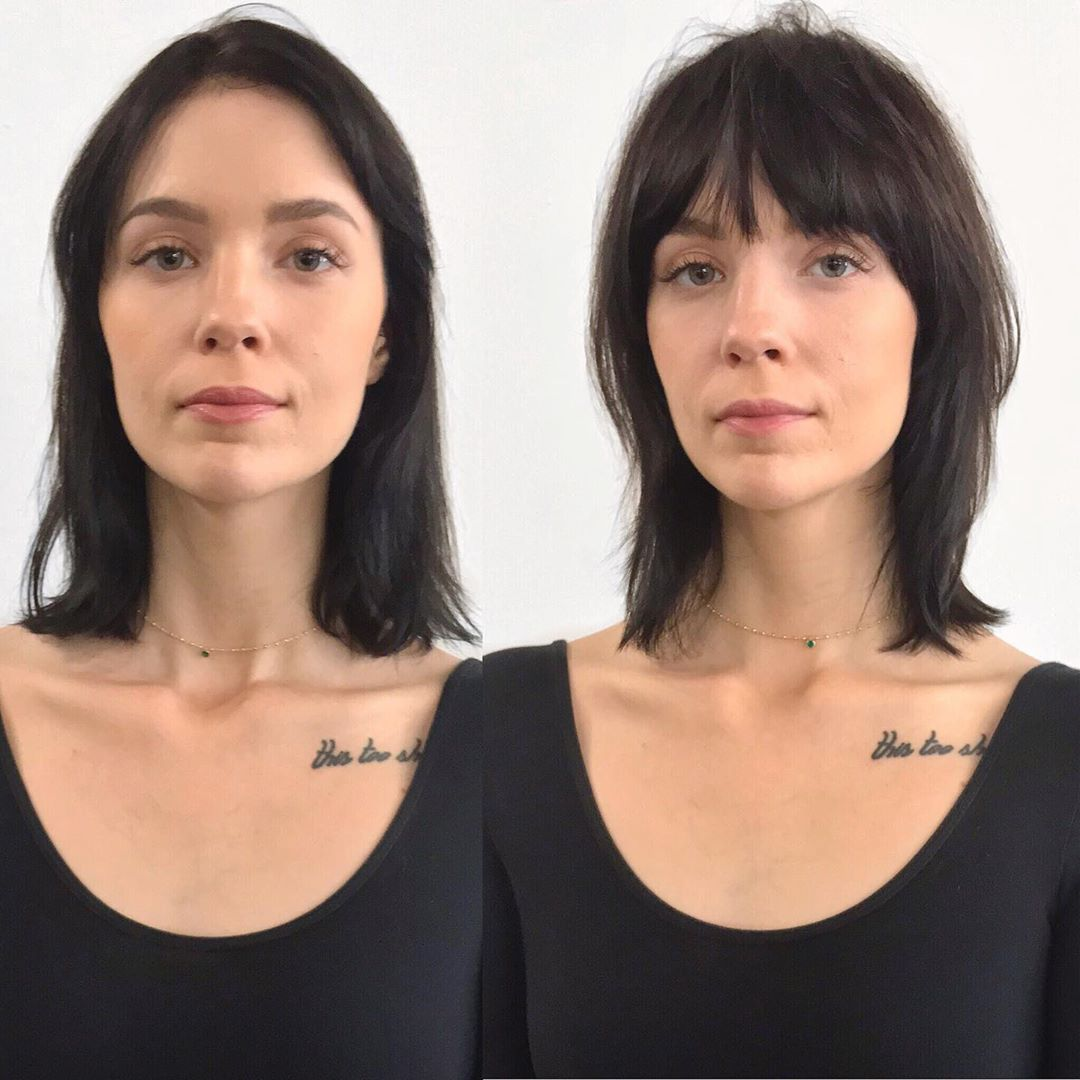 До и после челки: фото 14