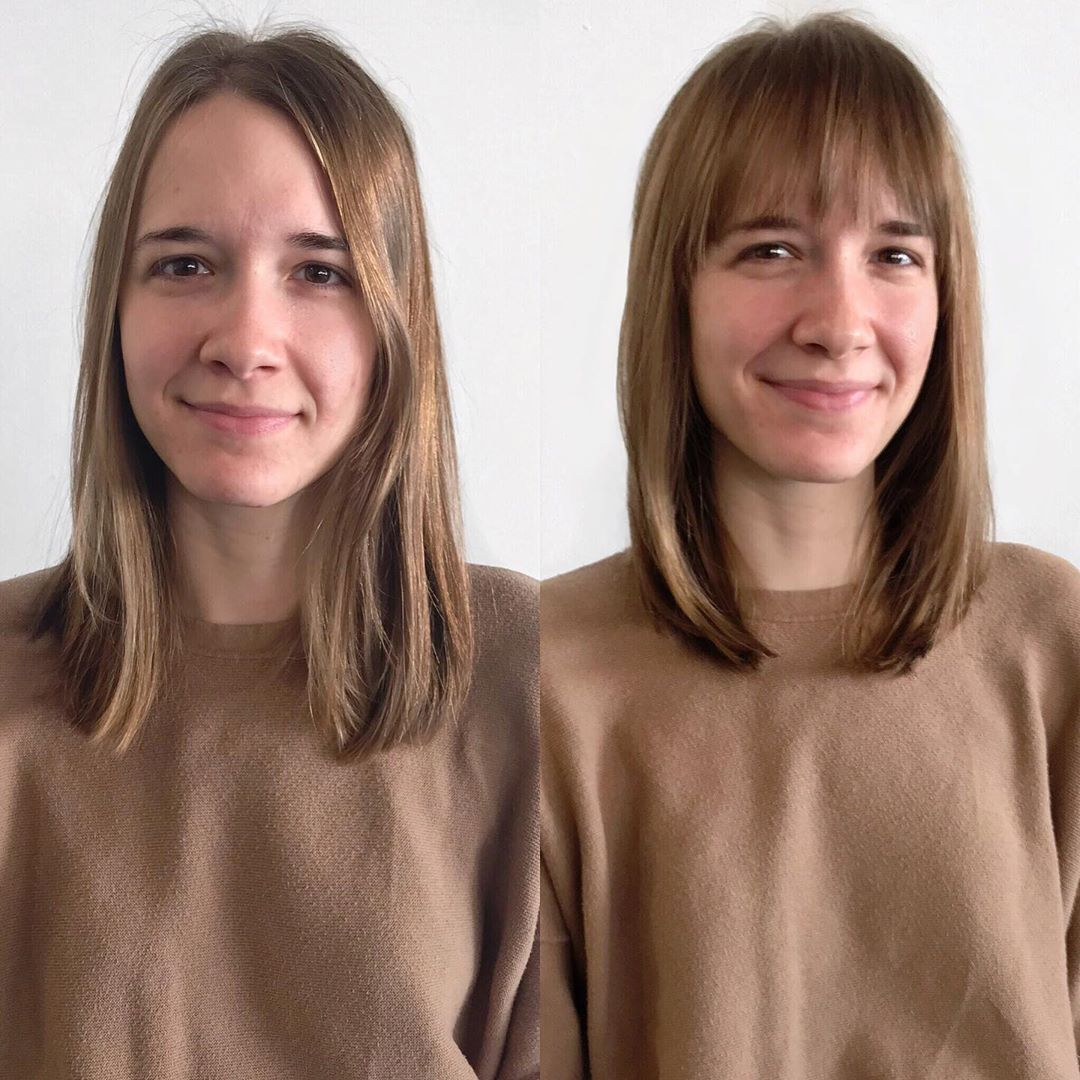 До и после челки: фото 12