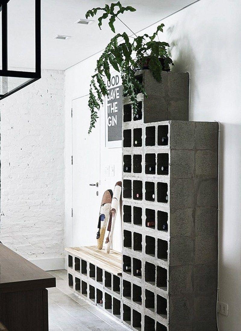 использование бетонных конструкций в интерьере фото 15