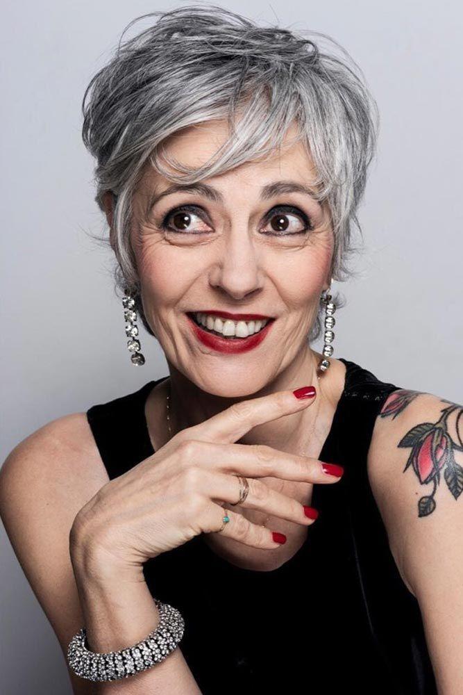 короткие стрижки для женщин старше 60 лет фото 5