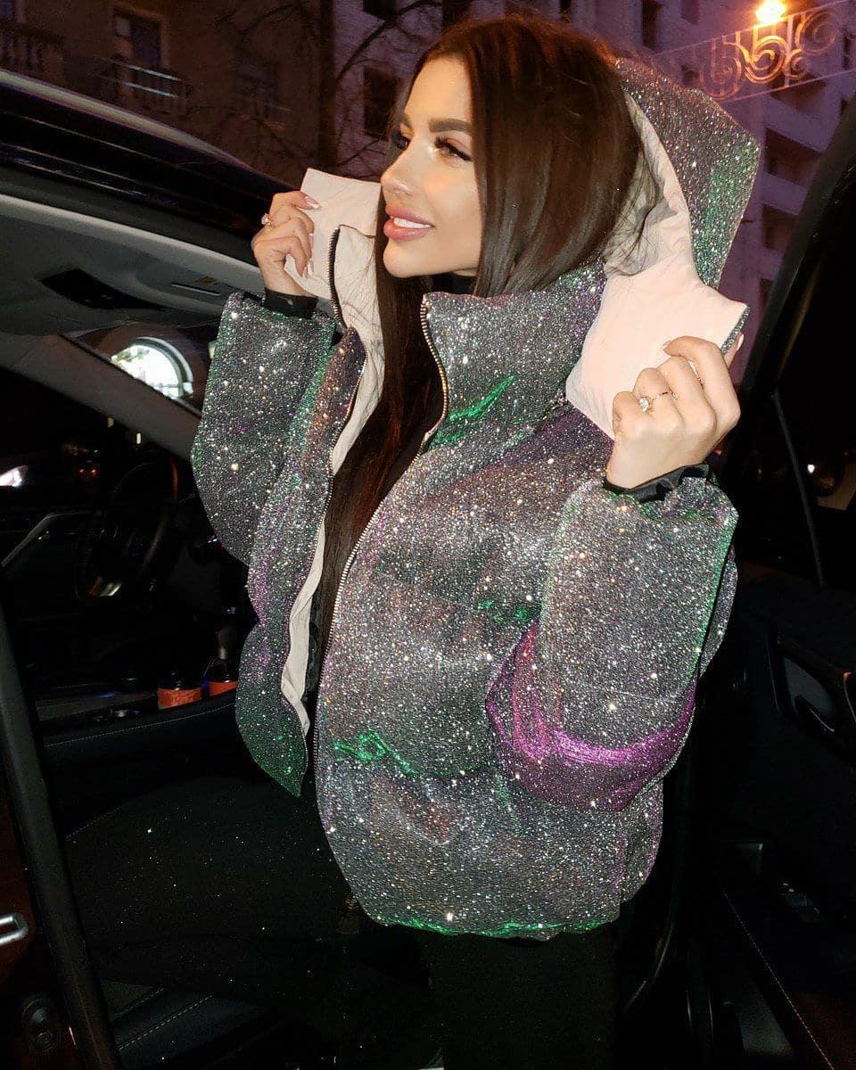 блестящая куртка фото 6