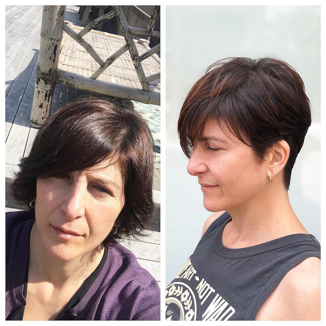 модные стрижки на короткие волосы для женщин 40 лет фото 5
