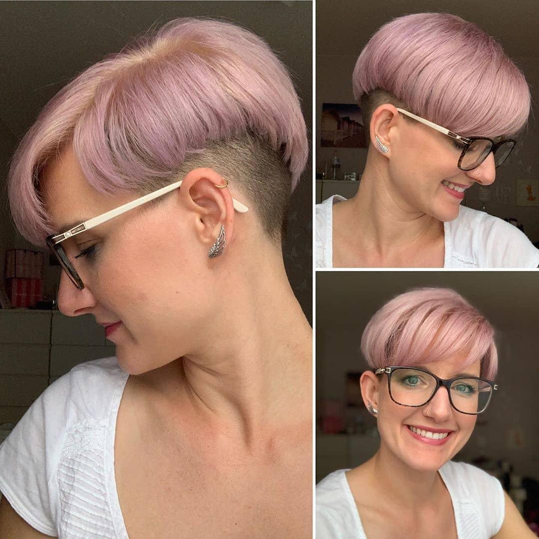 модные стрижки на короткие волосы для женщин 40 лет фото 9