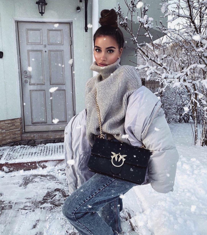 Джинсы зимой фото 7