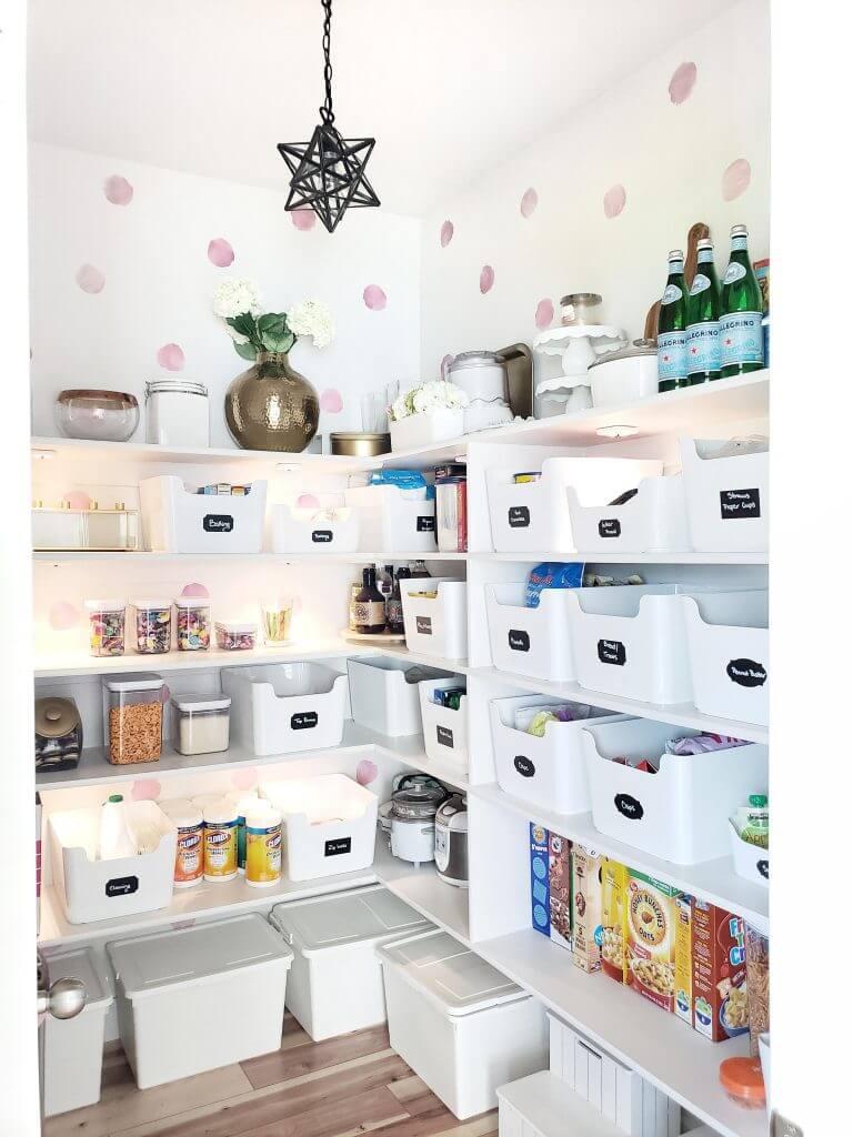 стеллажи для организации кладовой на кухне фото 12