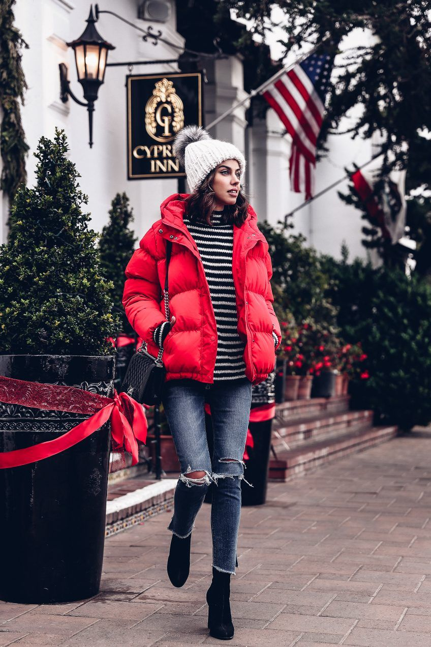 Красная куртка фото 8