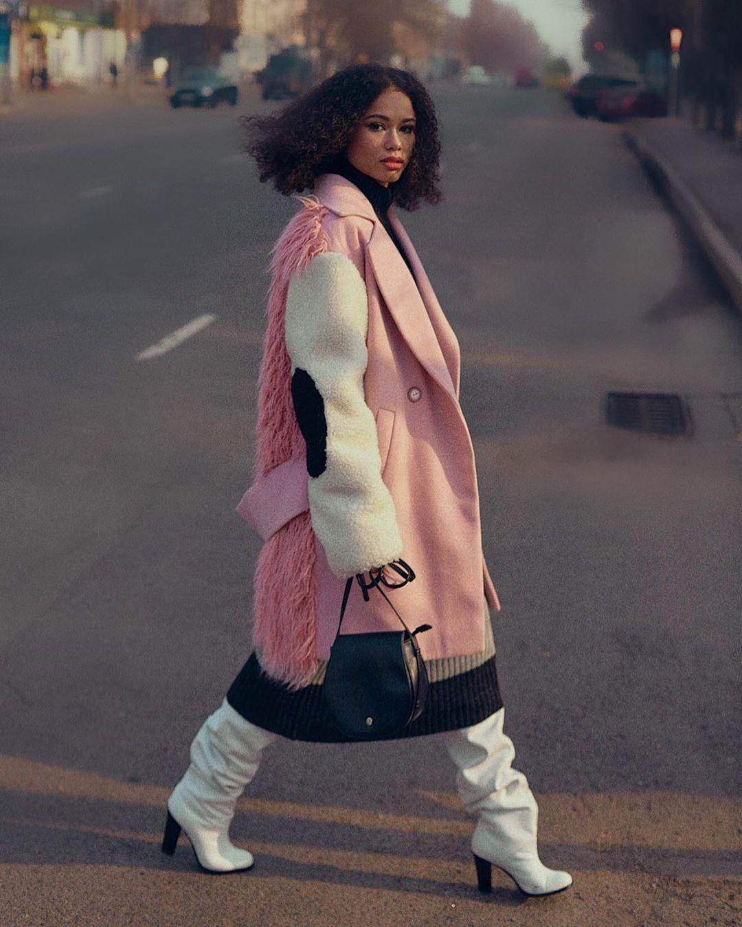 Розовое пальто фото 2