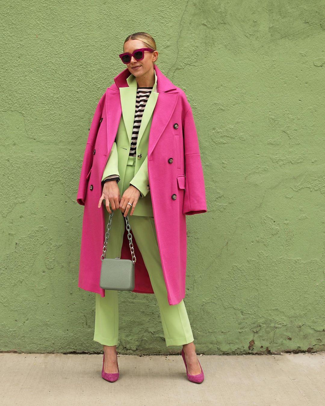 Розовое пальто фото 7