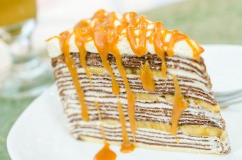 Как приготовить блинный торт с бананами