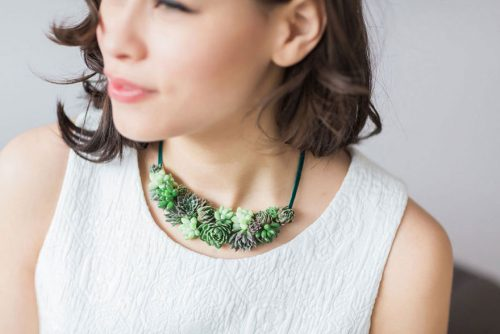 living succulent plant jewelry passionflower susan mcleary 9