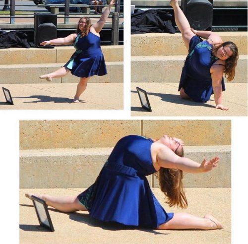 Ломая стереотипы: 15-летняя девушка с лишним весом мастерски исполняет балетные па