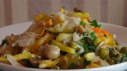 Вкусный постный салат