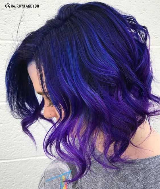 манящих синих оттенков на черных волосах 13 импульсивных цветов