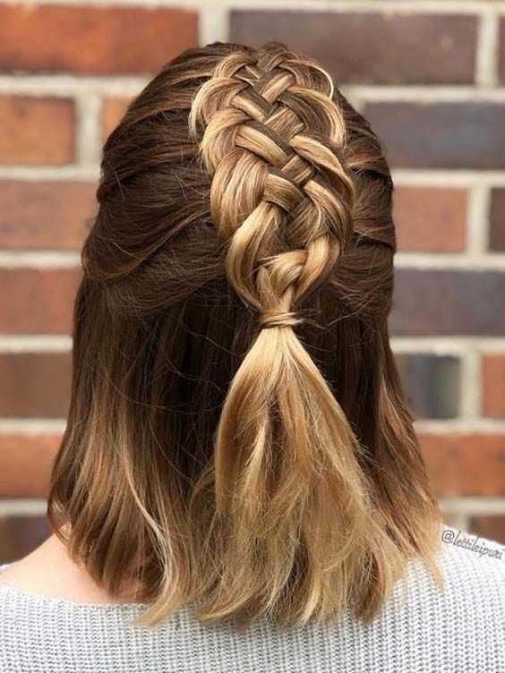 11 быстрых косичек для коротких волос которые изумительно подойдут для любых мероприятий