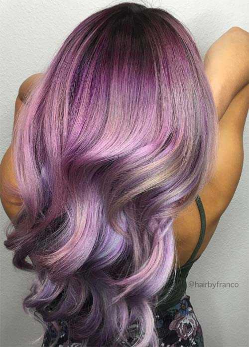 16 глубоких оттенков фиолетового цвета волос самые смелые и провокационные идеи