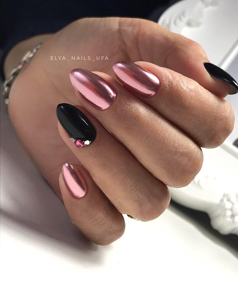 маникюр розовое золото фото_15
