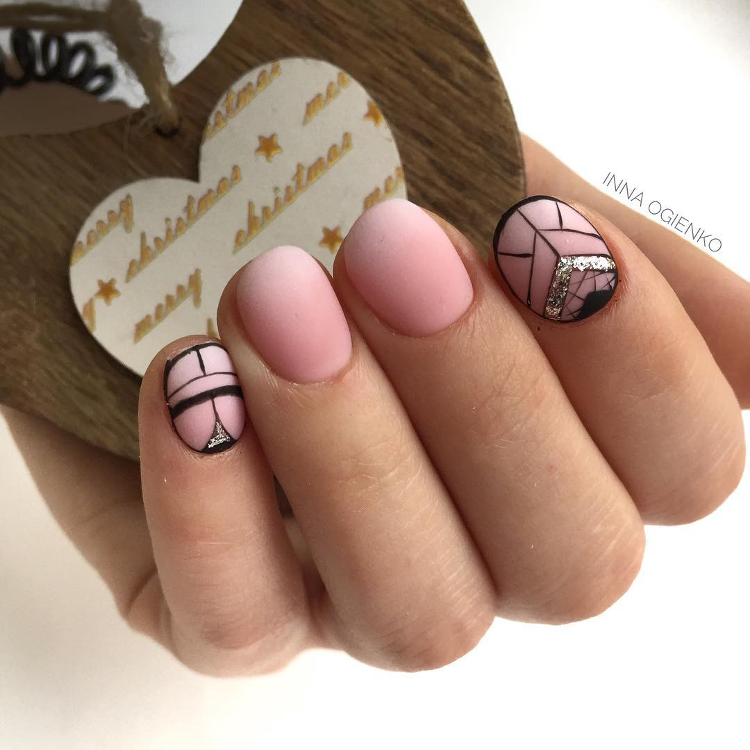 маникюр розовое золото фото_28