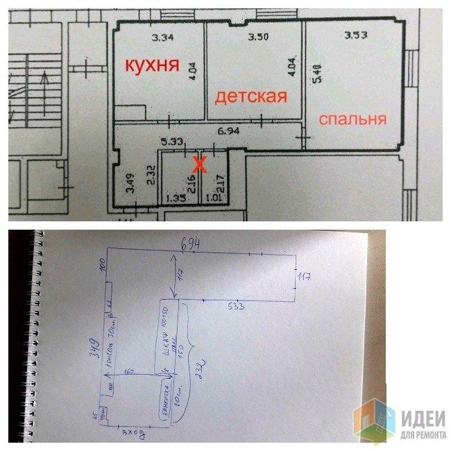 план квартиры и размеры коридора