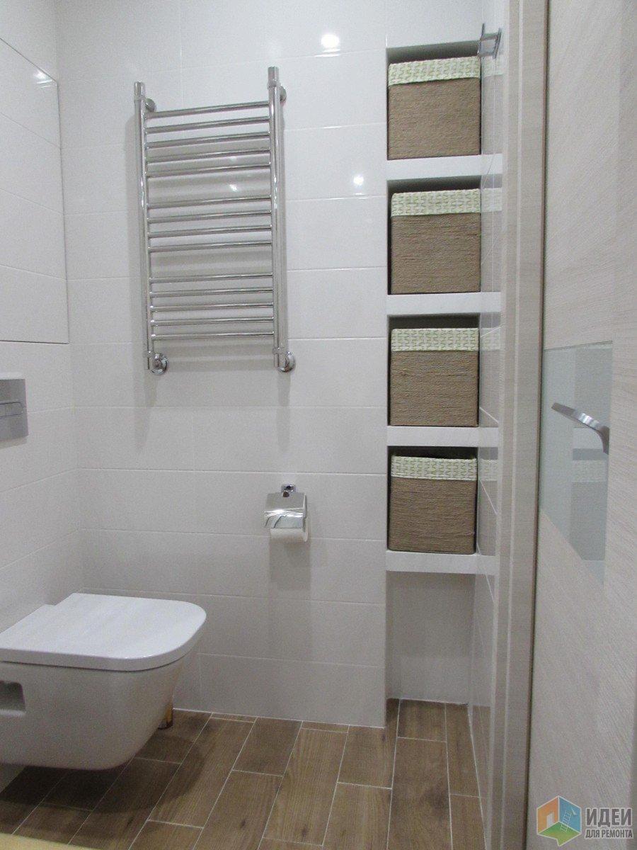 Маленькая душевая комната в эко-стиле