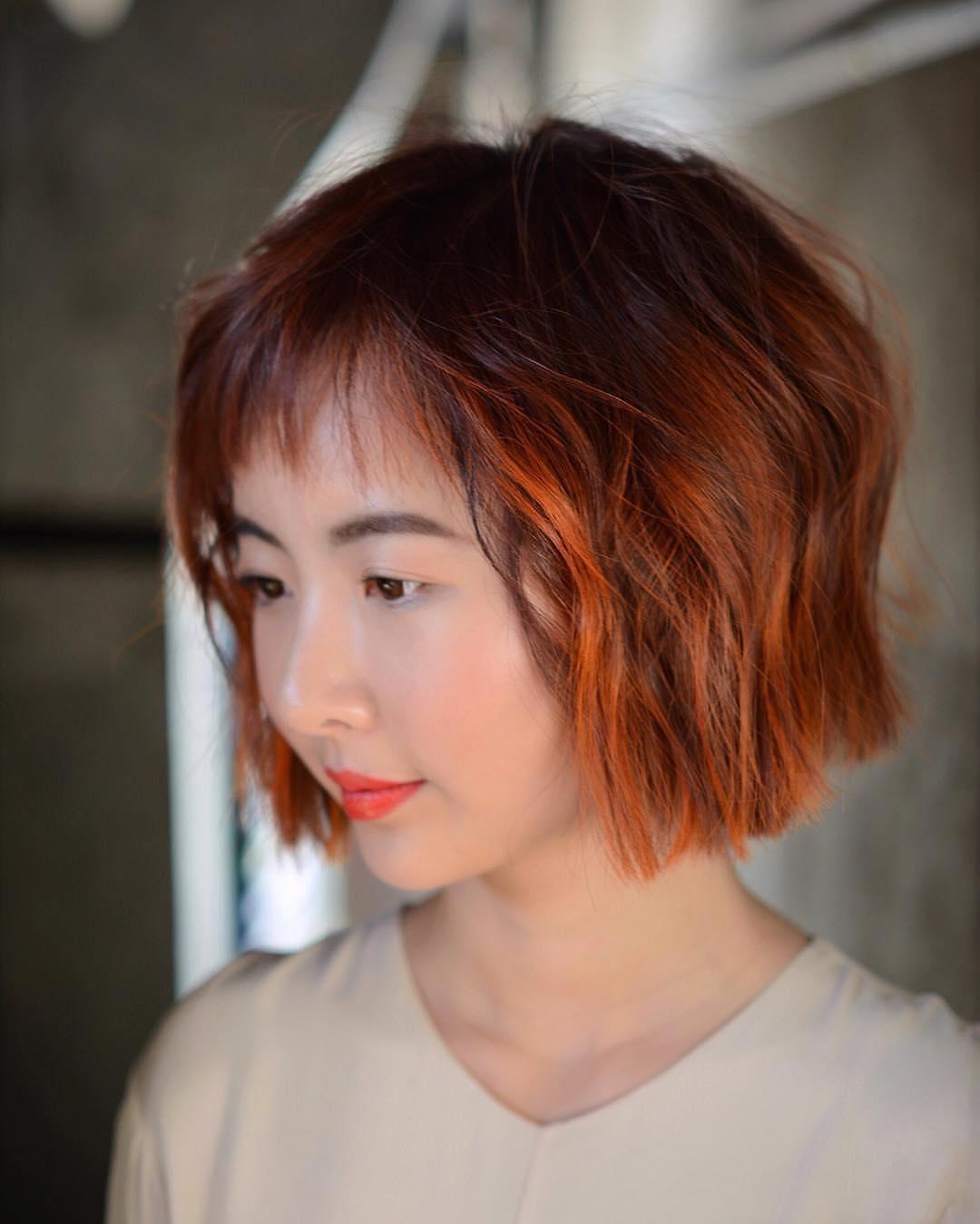 короткие стрижки для рыжих волос фото 20