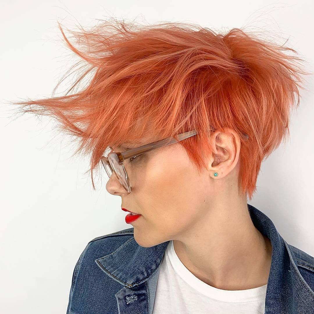 короткие стрижки для рыжих волос фото 6