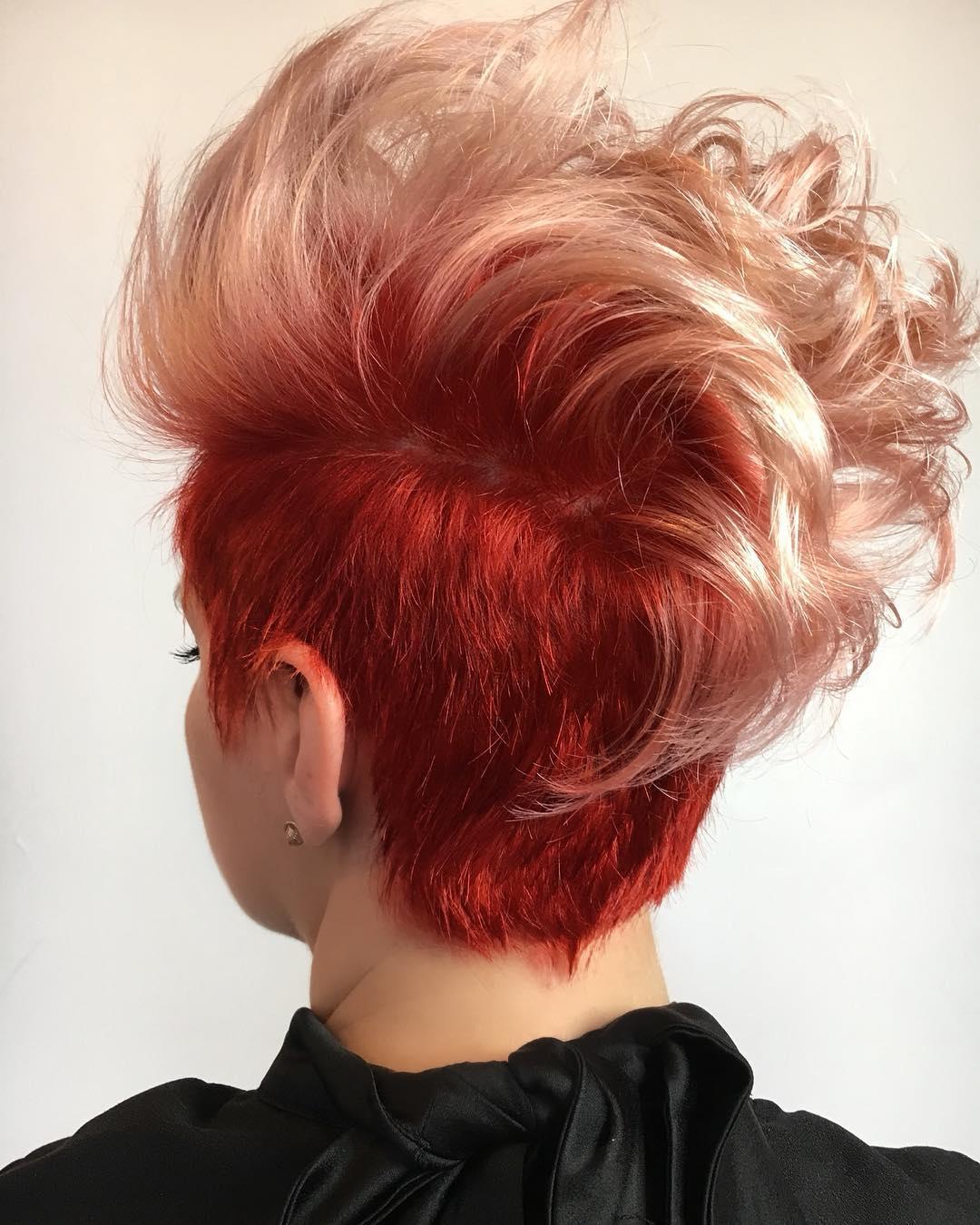 короткие стрижки для рыжих волос фото 8