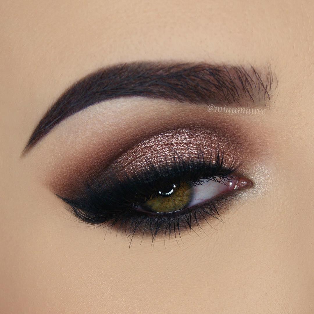 легкий макияж для зеленых глаз фото 3