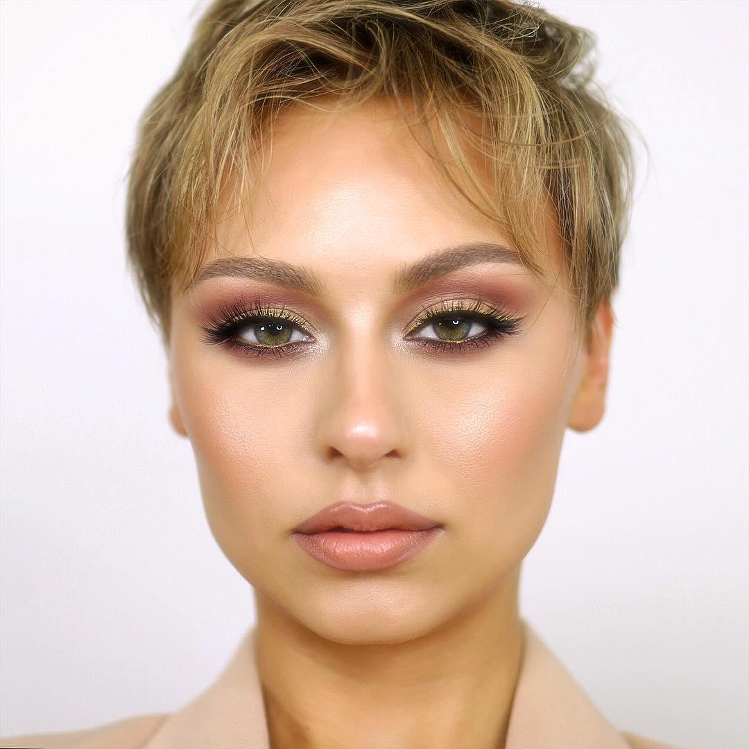 легкий макияж для зеленых глаз фото 12