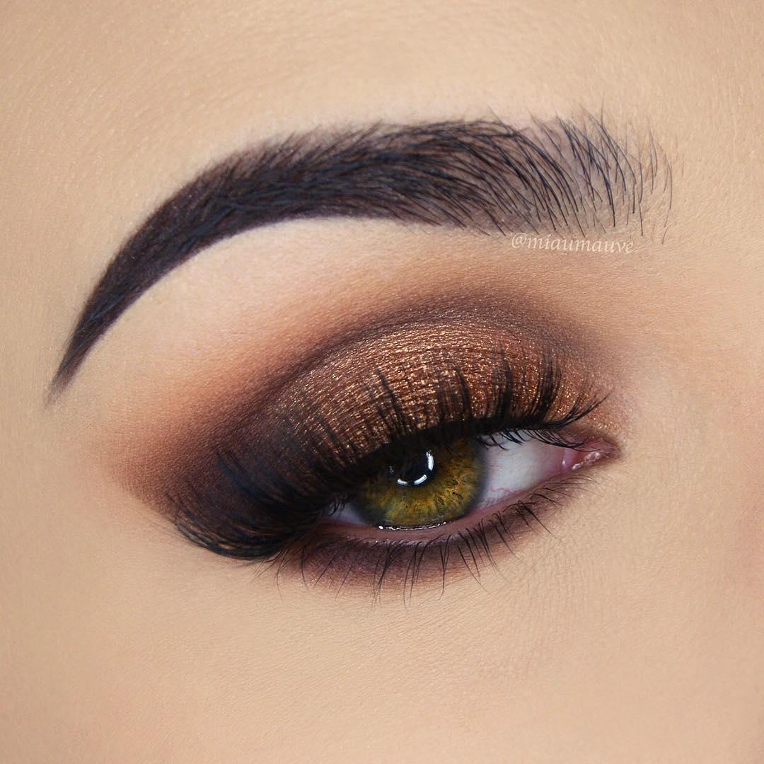 легкий макияж для зеленых глаз фото 7