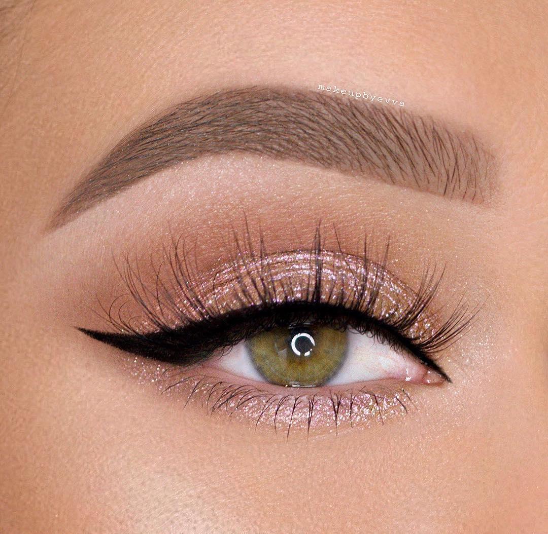 легкий макияж для зеленых глаз фото 9