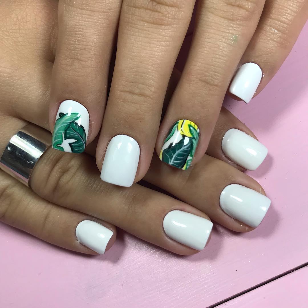 белые короткие ногти 2019_15