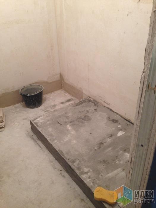 Душ и ванная на 3 кв м