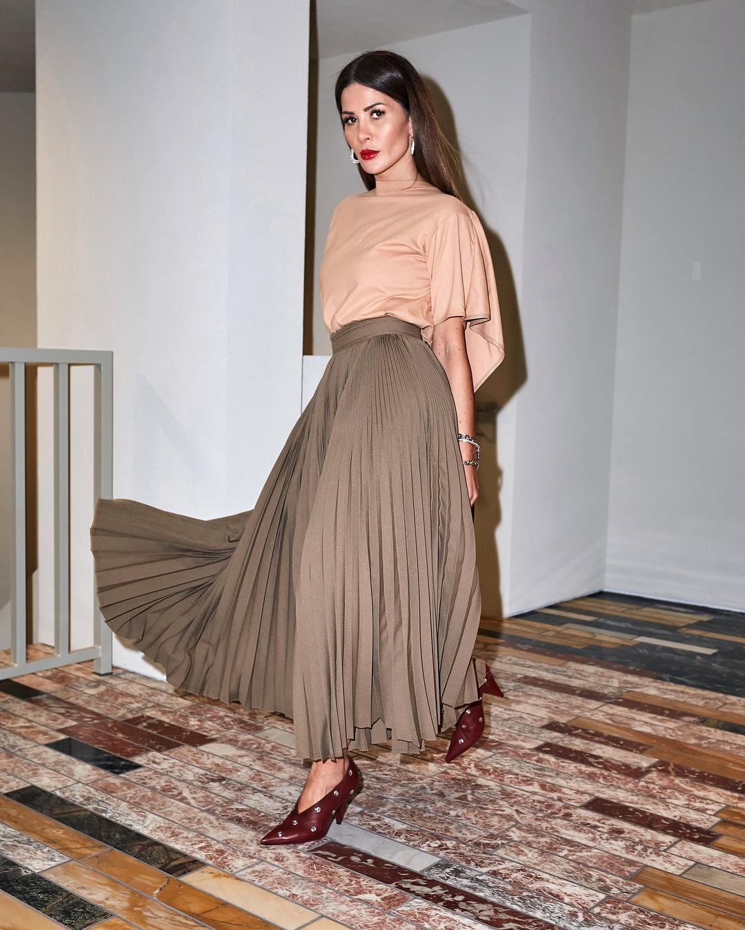 с чем носить плиссированную юбку фото 10